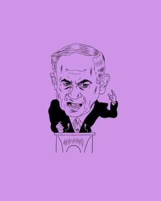 Andy Friedman illustration of Benjamin Netanyahu in New Yorker March 2015