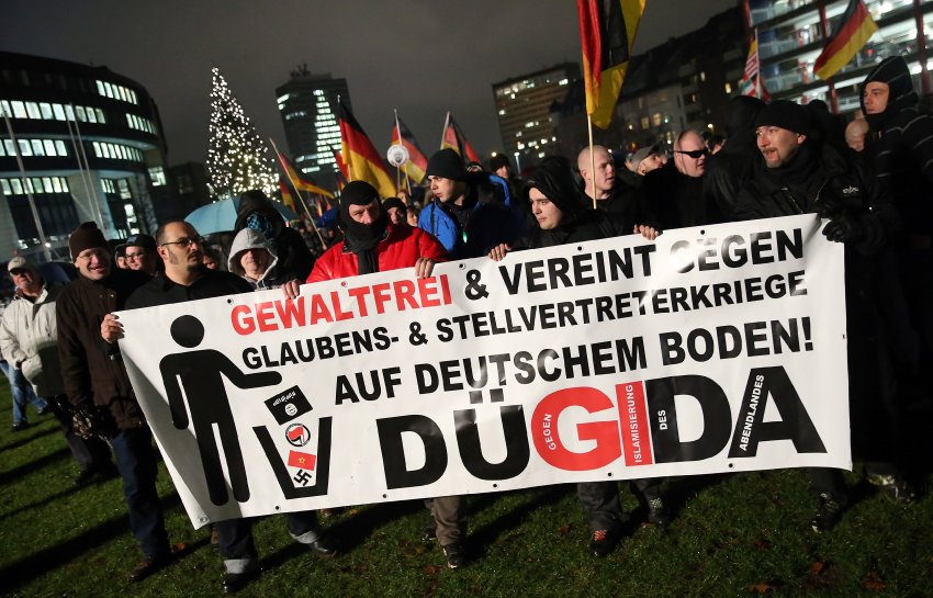 Pegida Supporters March In Duesseldorf