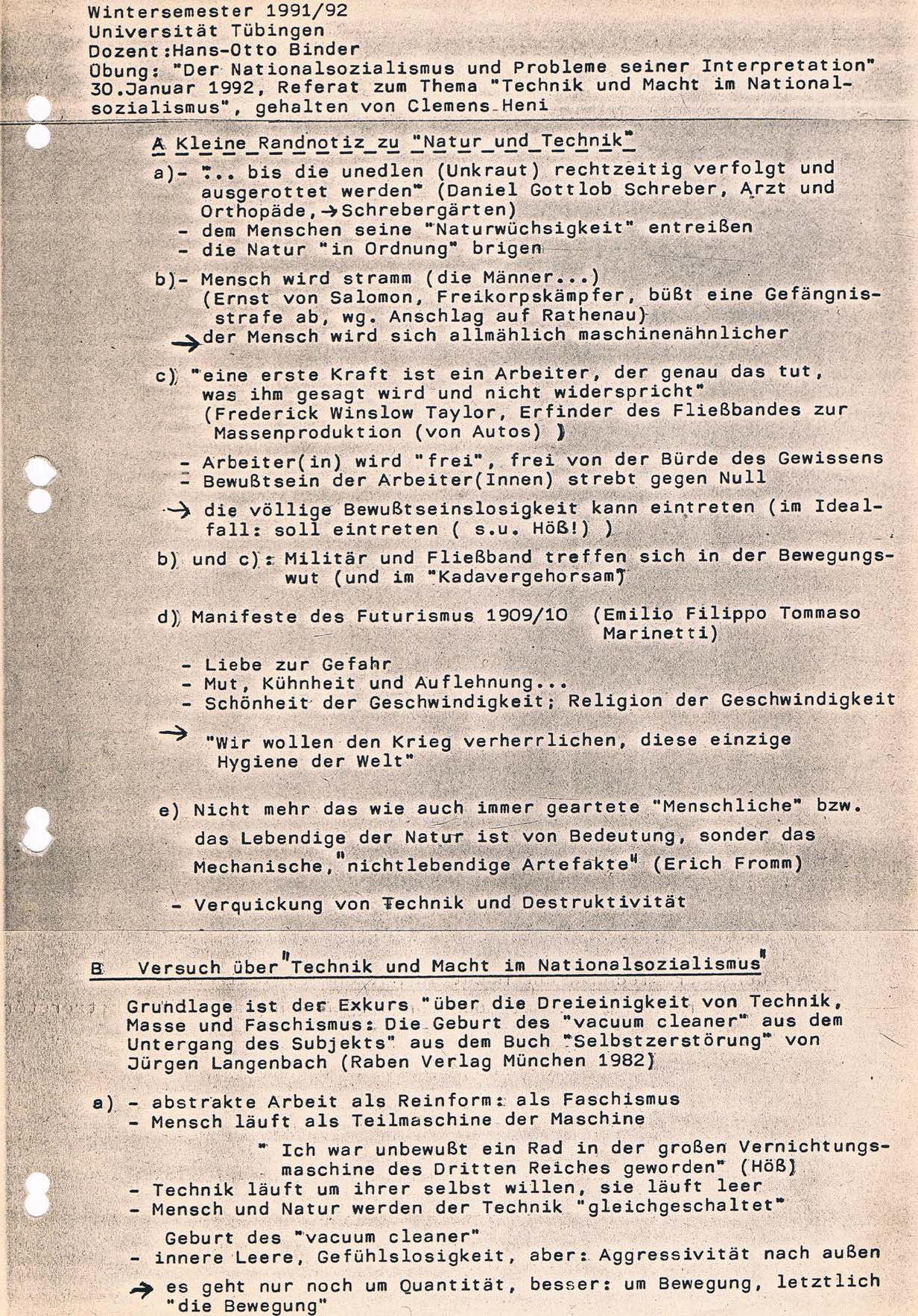 WiSe 91 92 30011992 Referat zu Technik und Macht im Nationalsozialismus